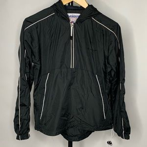 Champion Black Vintage 1/2 Zip Windbreaker Jacket